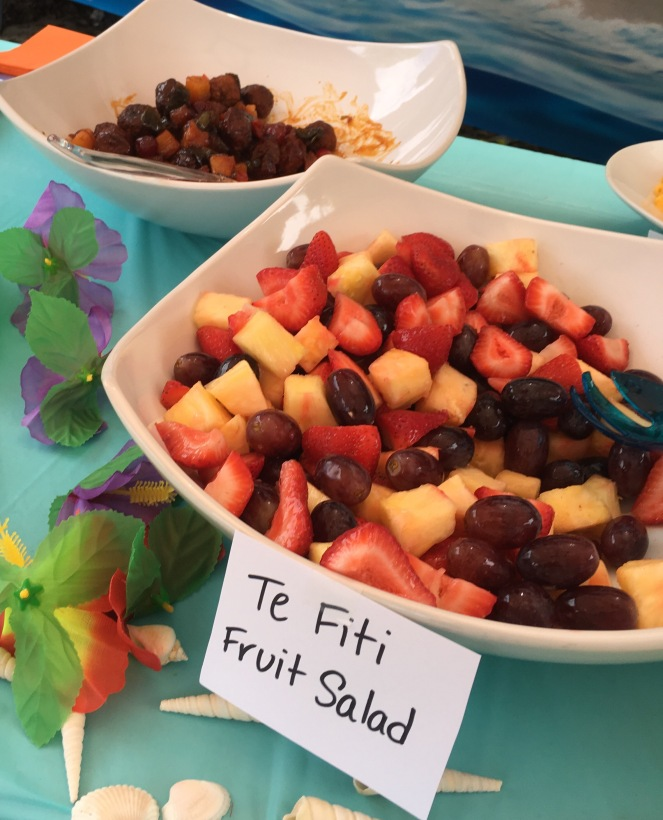 Te Fiti Fruit Salad - Moana inspired birthday party