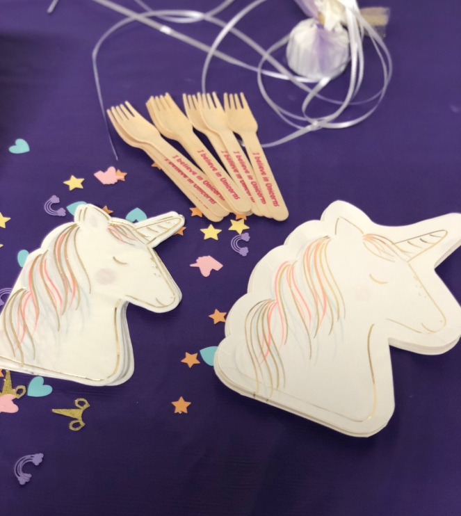 Unicorn themed birthday party - www.laneandlauren.com